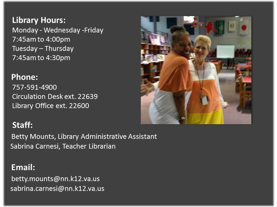 Library Hours Update